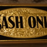 Blattgold CashOnly Schild