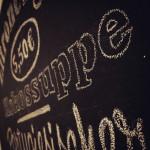 Tafelbeschriftung für die Krümelküche