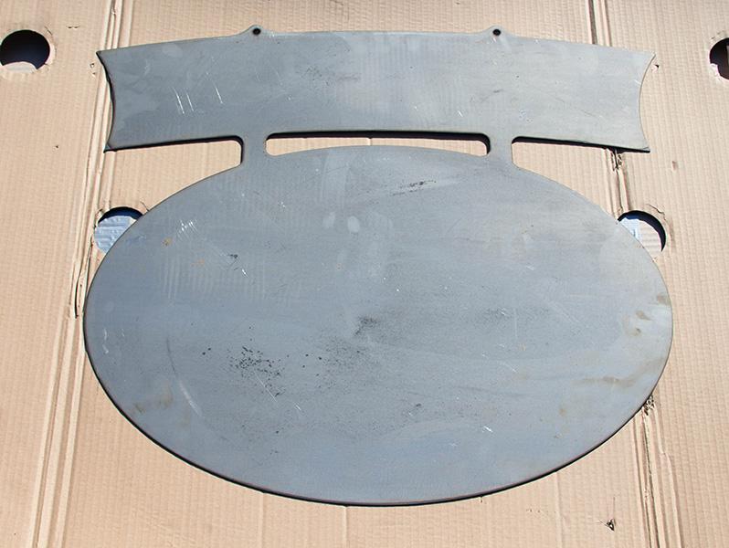 Schilder Rohling aus Metall